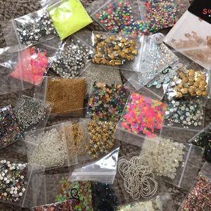 Nail art supplies bundle rhinestone stud edition